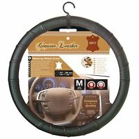 Sumex Race Sport Car Steering Wheel Cover - Genuine Black Leather & Red Stitch