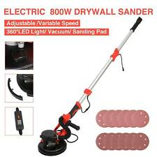 Electric Drywall Sander 800w 6 Speed Vacuum System Led Light Bar 12 Sanding Pad