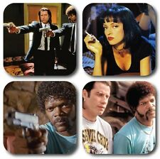 Pulp Fiction Inspired Coasters - Set of 4 - High quality
