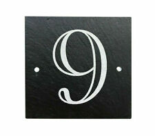 Personalised Engraved Slate House Gate Plaque Door Number Name Plate Sign
