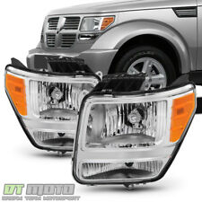 Factory Style 2007-2011 Dodge Nitro Headlights Headlamps Replacement Left+Right