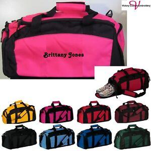 Personalize Monogram Duffle Gym Bag School Sports Duffel Travel Carry On