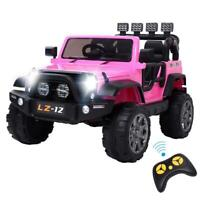 12V Powered Kids Ride on Toy Car Electric Battery w/Remote Control 3 Speed Pink