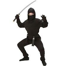 Widmann Costume da Guerriero Ninja in Taglia 11/13 anni Giocattolo Noir