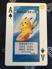 Pokemon Playing Cards (SUPER RARE SURFING PIKACHU VARIANT ACE OF SPADES)