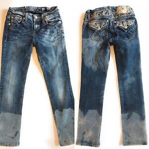 Miss Me Jeans, Sz 14, Snagz Custom Bleach, KE84575, Skinny