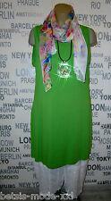 OPHILIA: Basic Long-Top Tunika Kleid breite Träger Viskose Lagenlook 46 48