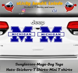 U of M Michigan Wolverines 6 inch window vinyl decal sticker's