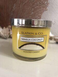 Bath Body Works Slatkin & Co Vanilla Coconut Small 4oz Jar Candle RARE NEW