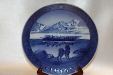 "Bing Grondahl Blue 1968 Annual Christmas Collector 7"" Plate The Last Umiak"
