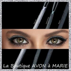 EYE LINER Scintillant Crayon yeux GLIMMERSTICK DIAMOND AVON : Noir & Gris