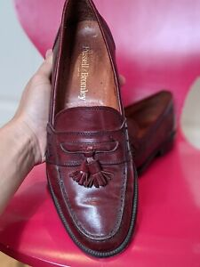 Mens RUSSELL & BROMLEY Oxblood Red Keeble3 College Tassel Loafers 43 UK 9