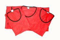 10 Football Mesh Training Sports Bibs - Adult Size - Blue / Red - 90GSM