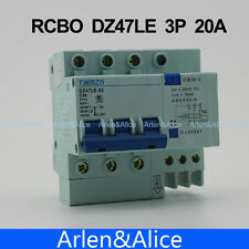 3P 20A 400V~ Residual current Circuit breaker RCBO