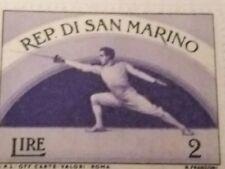 San Marino Sports stamp - Fencer