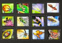 CANADA 2007-2014 Beneficial Insects complete set of 12 stamps Mint NH
