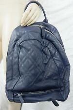 ZARA navy blue quilted backpack rucksack NWOT