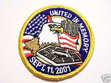 #0497 MOTORCYCLE VEST PATCH UNITED IN MEMORY SEPT......
