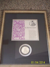 "Genius of Michelangelo 1.3oz Sterling Silver; ""St. Bartholomew"" Framed Very Nice"