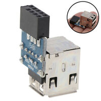 Internal Header Adapter 2 Ports USB2.0 A Female 9Pin Motherboard to DoubleLay Pg