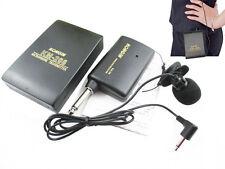 Wireless Lavalier Lapel Clip Microphone FM Transmitter Receiver Mic System KM208