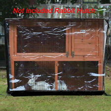 New listing Bunny Rabbit Hutch Ferret Chicken Coop Pets Cage House Enclosure With Cover Roof