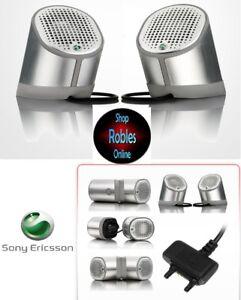 Sony Ericsson Stereo Speaker MPS-100 silver NEU OVP