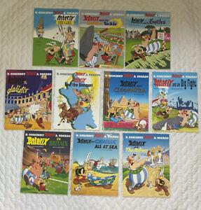 Set of 10 - Asterix Cartoon Comics Classic Series Orion Books - Asterix The Gaul