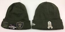 2018 Oakland Raiders New Era NFL Salute To Service Knit Hat Sideline Beanie Cap