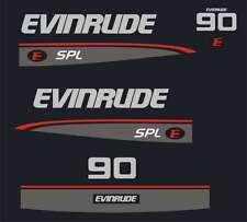 Adesivi motore marino fuoribordo Evinrude 90 hp SPL 2 tempi nautica barca