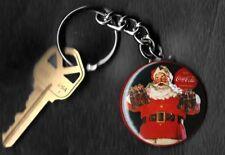 Coca-Cola Santa Holding 6 Bottles Haddon Sundblom Keychain Key Chain
