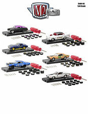 AUTO WHEELS 6 CARS SET RELEASE 5 WITH TIRES AND TOOL 1/64 M2 MACHINES 34001-05