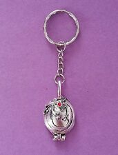 Elena's Vervain Locket Keyring Inspired by The Vampire Diaries Antique Silver