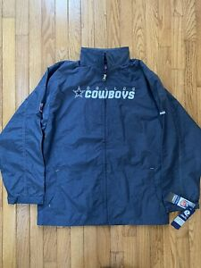 Dallas Cowboys Authentic Reebok Zipped Track Jacket Youth XL New With Tags