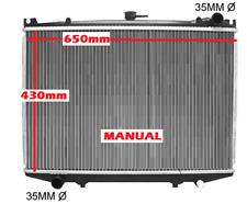 Radiator Nissan Terrano D21 1986-1993 2.5L 2.7L Manual Diesel / Turbo Diesel New