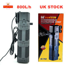 800L/H Internal Aquarium Filter Fish Tank Filtration Submersible Pump+Spray Bar