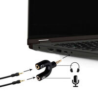 2-Pack 3.5mm Stereo Audio Male to 2 Female Headphone Splitter Cable Adapter