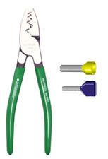 Pince à sertir les embouts de fils de  0,5 à 16 mm² et de  2 x 0,5 à 2 x 6 mm²