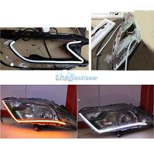 4PCS 60cm White Headlight Flexible Tube LED Strip DRL Daytime Light For Car