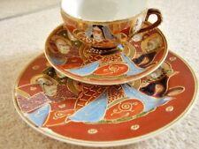 Japanese KUTANI Dragon ware porcelain tea trio: cup,saucer and plate