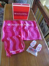 American Girl Place Souvenir Beach Set F/DL for Dolls Towel Sunglasses Bag NIB