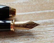 """Cross Townsend Black Lacquer Fountain Pen 18k Gold Nib """"F"""" Fine / New"""
