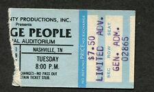 Original 1979 Village People concert ticket stub Nashville TN Y.M.C.A