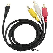 AV A/V TV + USB Cable/Cord for Sony Handycam DCR-SR40/E HDR-CX110/E DCR-SR200/E