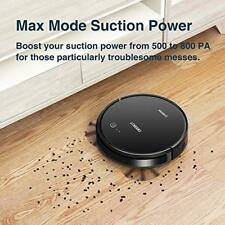 601 Robot Vacuum Cleaner With S-Shaped Systematic Movement App Controls Black