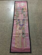 ANTIQUE OLD LOOK COTTON TABLE COVER / WALL HANGING TAPESTRY PATCH WORK
