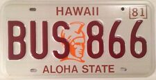 Rare HAWAII BUS 866 King Kamehameha license plate Public Transport Coach