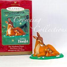2000 Hallmark The Newborn Prince Bambi and His Mother Keepsake Ornament Disney