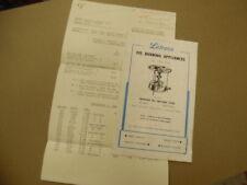 1952 LETRACO Wickless Pressure Oil Stove Brochure British Leship Trading Vintage
