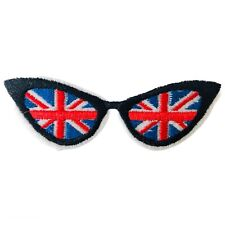 Cool Britainia Union Jack Flag Glasses Sunglasses Embroidered Iron On Patch